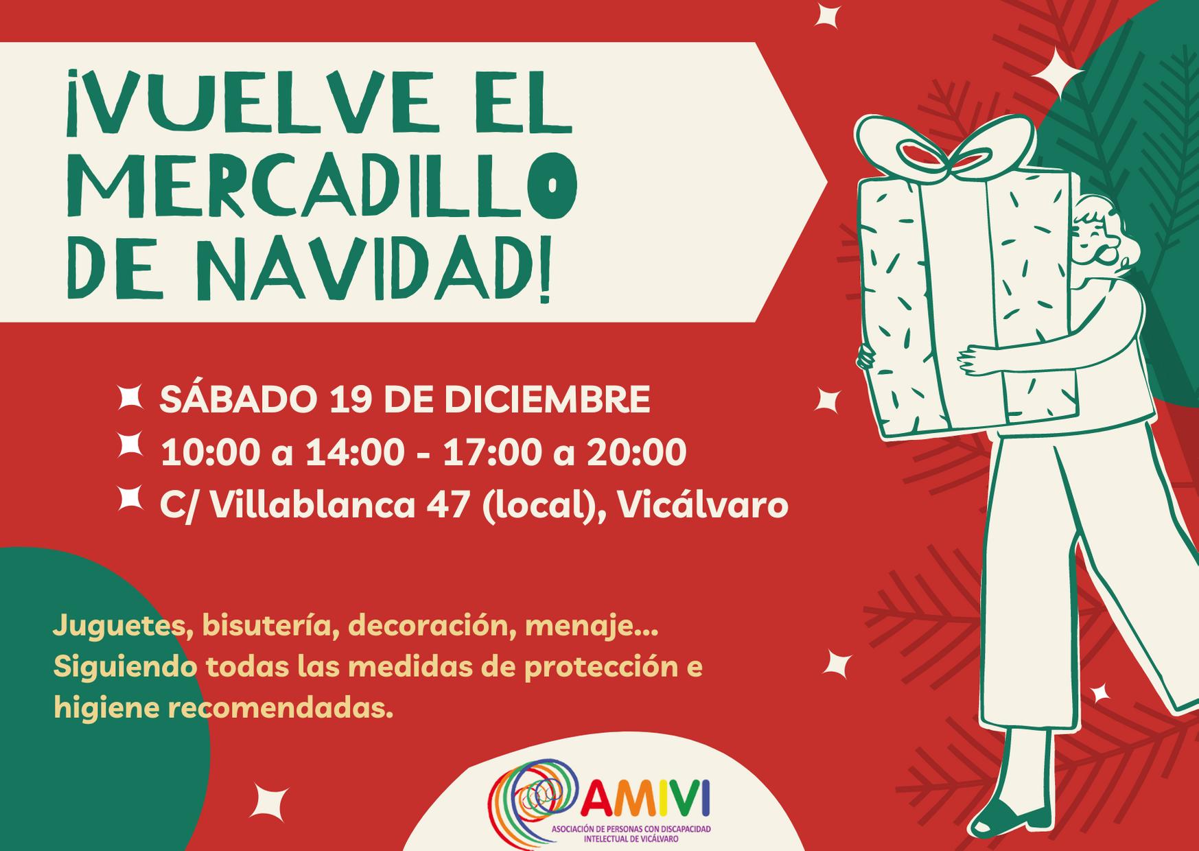 Mercadillo navideño de AMIVI 2020